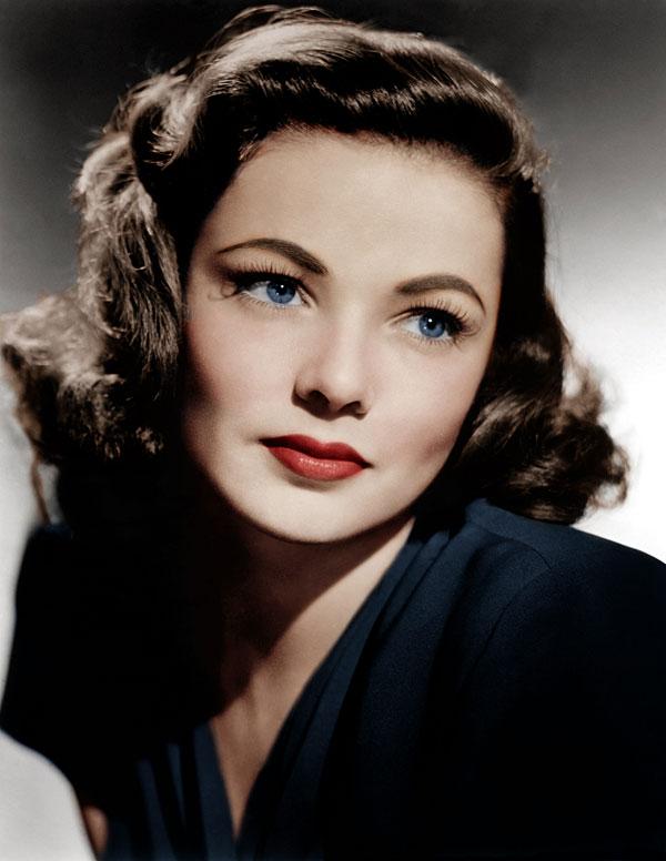 Gene Tierney makeup 1940s