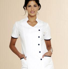 Beauty tunics and spa uniforms diamond designs uniforms for Spa uniform white